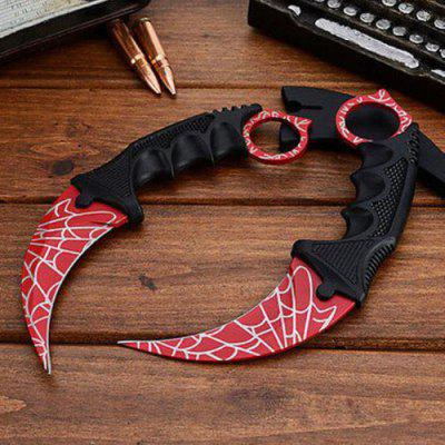 CSGO Karambit Tooth Doppler Counter Claw Fixed Cs Go Knife Blade