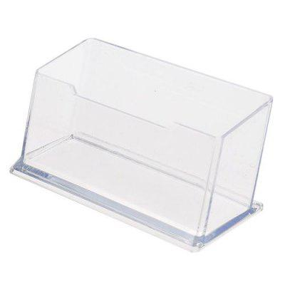 Office Display Stand Acrylic Business Card Holder Desktop Clear