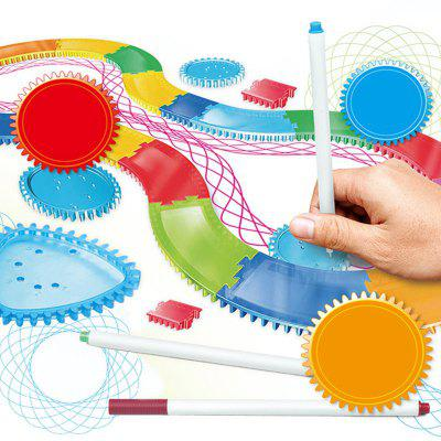 Children's DIY Gears Flower Ruler Schilderij Track Set Liniaal Puzzel Early Education Toy Briefpapier