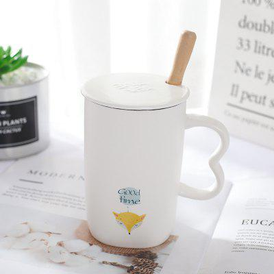 Ceramic Mug Creative Cartoon Matte Drinking Cup Office Home Coffee Milk Tea Cup Student Couple Cup