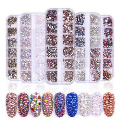 1440pcs Nail Art Tips Strass Glitter Faux Diamond 3D Manicure DIY Decoratie