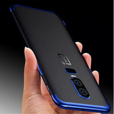 Ultra Slim Light Plating Soft TPU Case for Oneplus 6 Protective Mobile Phone Cover Cases Coque