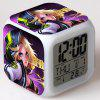 Legends Showdown LED Clock Blade Colorful Square Alarm Clock Creative Fashion Silent Electronic Table Clock Temperature Version - PATTERN 02