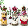 Christmas Linen Wine Bottle Set Santa Claus Doll Bunch Mouth Red Wine Bag Wine Set Champagne Red Wine Decorative Bag - ALTEN