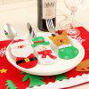 Christmas Cutlery Bag Knife And Fork Set Christmas Decoration Christmas Supplies Santa Claus Table Cutlery Set - FAWN CARTOON KNIFE AND FORK SET