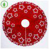 Explosion Christmas Tree Skirt Christmas Tree Bottom Decoration Tree Skirt 100cm Star Felt Print Tree Skirt - PENTAGRAM-BAUMROCK