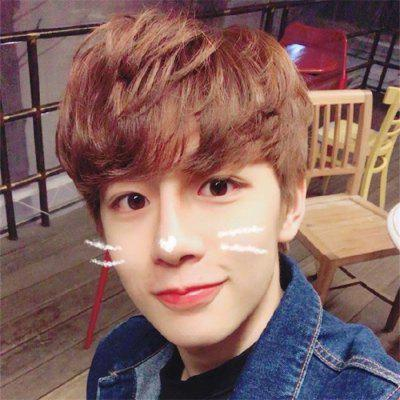 Short Hair Wig Male Korean Version Of Handsome And Realistic Boys Short Curly Hair Fluffy Natural Wig Set