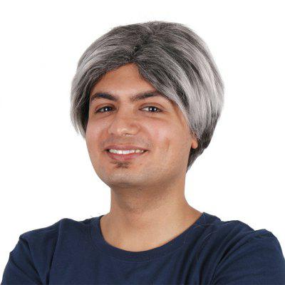 Short Straight Middle Men Male Wig