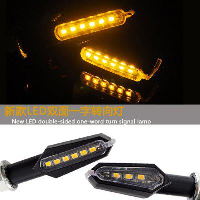 Motorcycle Accessories LED Turn Signal Double-sided Word Turn Light Scooter Modified Front And Rear Direction Lights