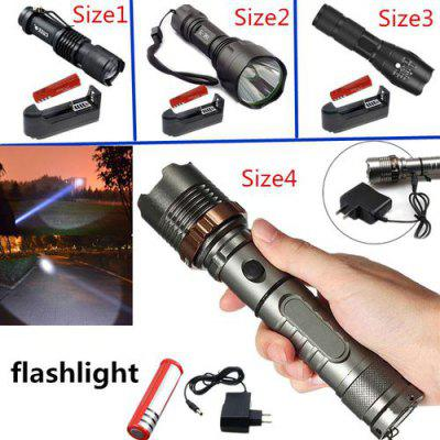 XM-L T6 LED Flashlight Torch Rechargeable Lantern Hunting FlashLight for 18650/AAA battery direct charge
