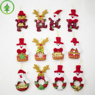 Suibao Christmas Cloth Doll wisiorek Choinka Cute Doll Ornament Christmas Ornament tkaniny
