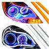 Car Modification LED Headlight Decoration Silicone Light Guide Strip - 45CM SINGLE BLUE
