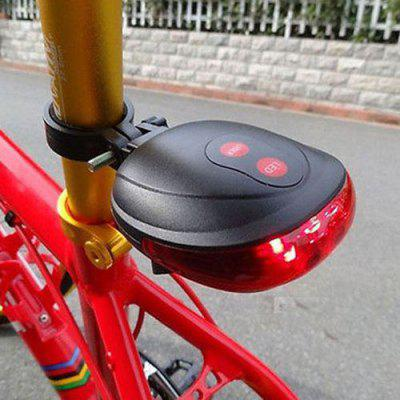5 LED 2 Laser Bike Light 7 Flash Mode Cycling Safety Bicycle Rear Lamp Waterproof Laser Tail Warning Lamp Flashing