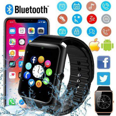 Bluetooth Smart Watch Touch Screen Wrist Watch with Camera/SIM Card,Waterproof Sports Fitness Tracker Apply to Android IPhone IOS for Kids Women Men (GT08) Image