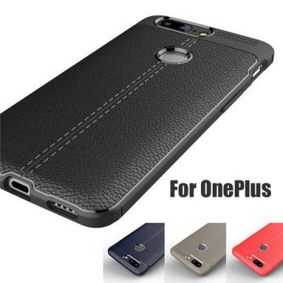 For Oneplus 5T Case oneplus 6 cover Full Protection Litchi Pattern leather  Soft Silicone Frosted Matte Cover For Oneplus 6 5 3/3T Case 1+5T