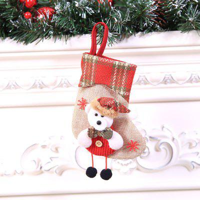 Christmas Decorations Christmas Stockings Pendant Christmas Stockings Gift Bag Hanging Gift Bag Socks Hanging Ornaments