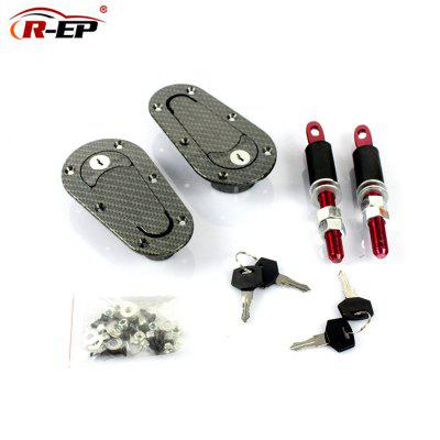 R-EP Car Cover Lock Racing Modified Parts Car Cover Lock Hood Lock Carbon Black Hood Lock