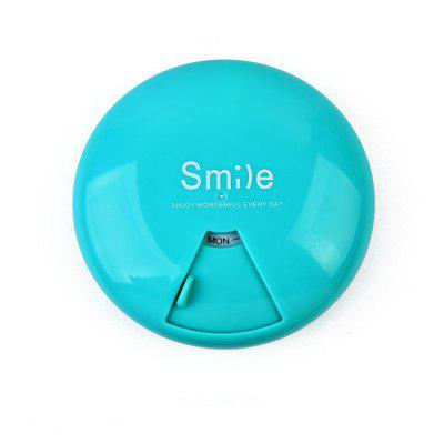 Candy Color Portable Pill Box 7 Days Rotating Large Capacity