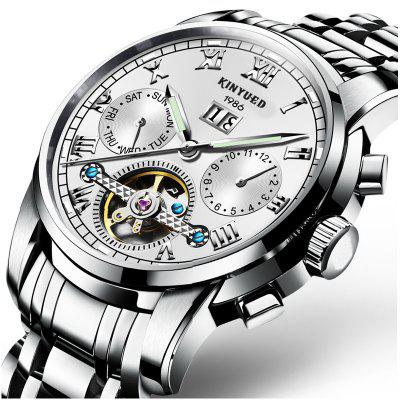 Swiss Solid Stainless Steel Men's Tourbillon Automatic Mechanical Watch