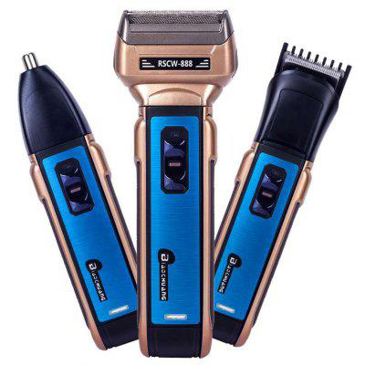 Three In One Size Suit Razor Multifunction Beard Knife Haircut Nose Hair Electric Razor