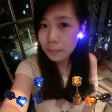 Gearbest price history to LED Light Earrings Korean Version Of The Flash Zircon Earrings Earrings Bar KTV Supplies