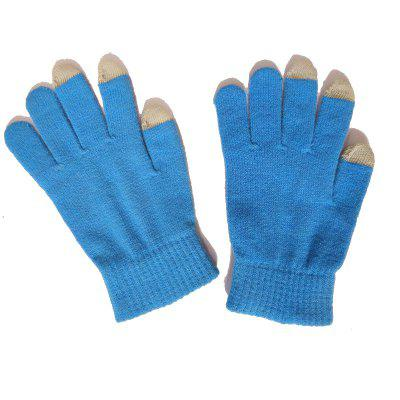 Winter Thickening Touch Screen Gloves Outdoor Riding Warm Gloves Men And Women Fashion Knitted Wool Gloves