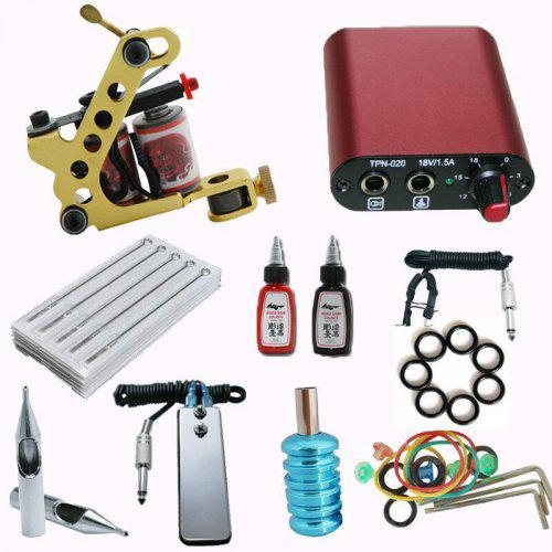 Tattoo Machine Motor Machine Set Power Pedal Hook Line Tattoo Accessories Set Entry Kit TK202