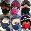 Winter Masks Motorcycle Skiing Face Riding Equipment Ear Protection Wind Mask - ROSE RED