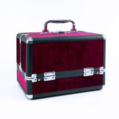 Professional Aluminum Cosmetic Case Portable With Lock Cosmetic Bag Multi-layer Beauty Supplies Kit Large Capacity