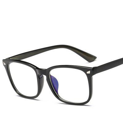 Anti-blue Light Rice Nail Square Flat Mirror Classic Blue Film Goggles Wild Glasses Frame Glasses