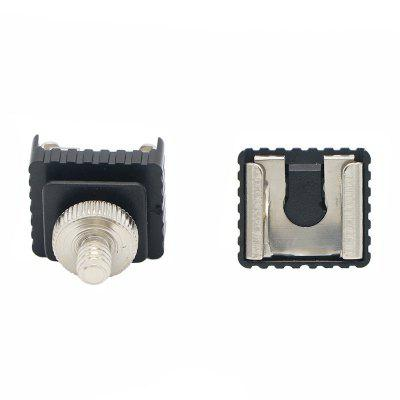 Aparat foto Flash Hot Shoe Converter Șurub elastic Ștuț de încălțăminte rece 1/4 sau 3/8 Base Transfer Hot Shoe