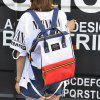 Fashion Diagonal Baby Out Mother Mom And Baby Bag Shoulder Mummy Bag Multi-function Large-capacity Backpack - BLUE