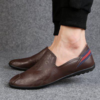 Spring 2020 Mens Shoes Tide Lazy Wild Leather Men Peas