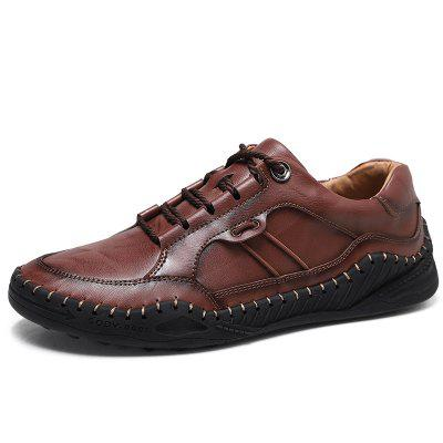 Men Casual Shoes Leather Large Size Fashion for Autumn