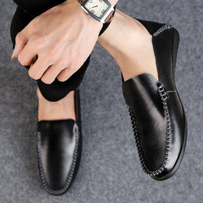 Men Casual Shoes Summer Fashion Business Peas Flat