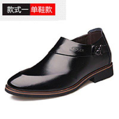 6cm Increased Mens Shoes Business Suits Pointed Inside Invisible Elevator Child