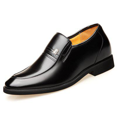 Increased Mens Business Dress Shoes Men Inside The Elevator British Fashion Pointed Set Of Feet Large Size 4748