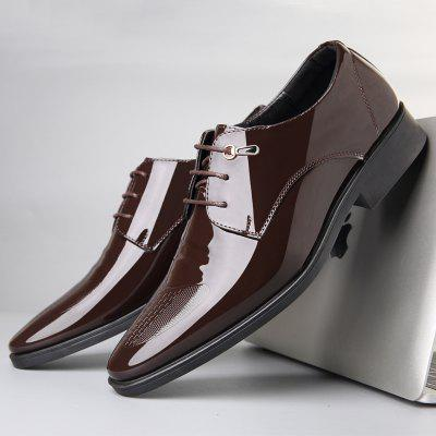 Mens Fashion Shoes Business Suits England Pointed Leather,
