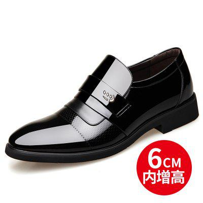 Spring And Autumn Mens Leather Men Bright Skin Patent Single Toe Head Business Dress Shoes