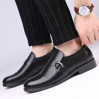 Mens Fashion Shoes Brand Casual British Business Leather