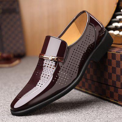 Business Men Pointed Shoes Fashion Leather Big Size