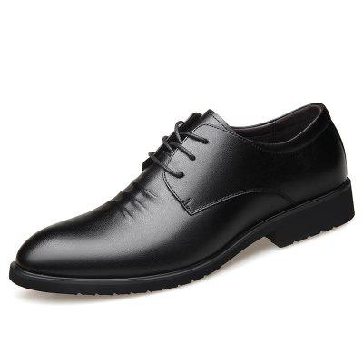 Men Shoes Leather Lace Pointed Business British Style Young