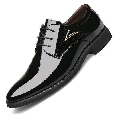 Large Size Men Shoes Business Dress Pointed Lace for Autumn
