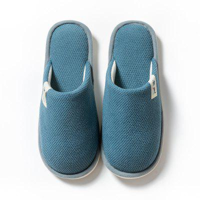 Japanese Home Slippers Female Warm Spring And Autumn Lovers Slip Cotton Mens Period
