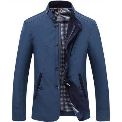 Spring And Autumn Mens Long Coat Jacket Collar Business Men Fashion Casual Approved