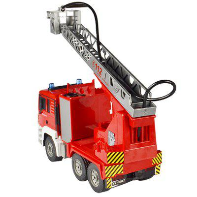 Double Eagle Remote Control Water Spray Fire Truck Ladder Simulation Large Lift Firetruck Boy Toys For Children