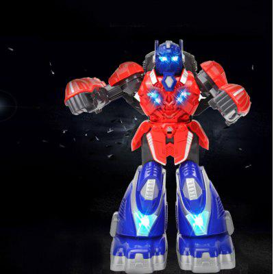 Oversized Somatosensory Remote Robot Battle Child Interaction Sparring Armored Steel Fist Charging Light Musical Intelligence