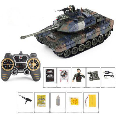 2.4G Remote Vibration Smoke Into Bullets Hit Battle Tank 1:18 Charging Electric Toy Vehicle