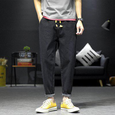 Mens Clothing   Jeans Male 2020 Autumn Straight Korean Version Of INS Loose Simple Pants