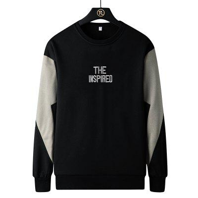 Autumn Round Neck Sweater Male Teen Fashion Pullover Long-sleeved Shirt